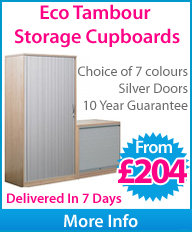 Eco Tambour Storage Cupboard