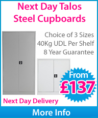 Next Day Talos Steel Cupboards