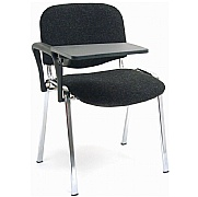 Rio Chrome Frame Conference Chair With Writing Tablet (Pack of 4)
