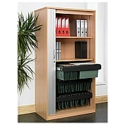 Next Day Eco Tambour Storage Cupboard
