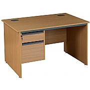 Next Day Pinnacle Plus Rectangular Panel End Desk With fixed Pedestal