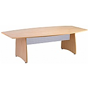 Next Day Pinnacle Barrel Boardroom Table With Metal Modesty Panels