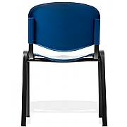 Fleet Black Frame Plastic Conference Chair(Pack of 4)