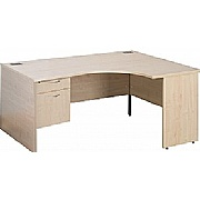 Eco Panel End Ergonomic Desks With Single Fixed Pedestal