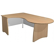 Arena Standard Ergonomic Conference Panel End Desk