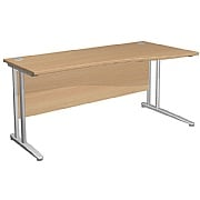 Arena Contract Shallow Wave Cantilever Desk