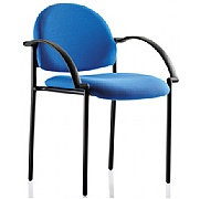 Denton Black Frame Stacking Chair