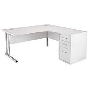 Next Day White Contract 1600 Combi Desk