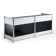 Neron High Gloss Black Reception Desk
