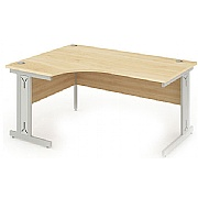 Arran Ergonomic Cantilever Desk With Cable Management Legs