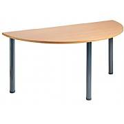 Next Day Tubular Semi-Circular Meeting Table