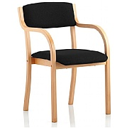 Madrid Vinyl Wooden Framed Arm Chair