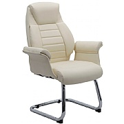 Chester Cantilever Leather Visitor Chair