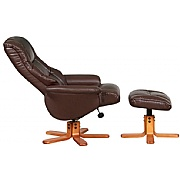 Almond Leather Recliner Nut Brown