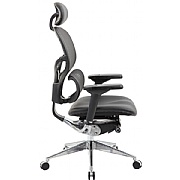Ergo-Mesh 24 Hour Office Chair With Leather Seat & Headrest
