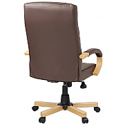 Farnham Soft Touch Brown Leather Manager Chair