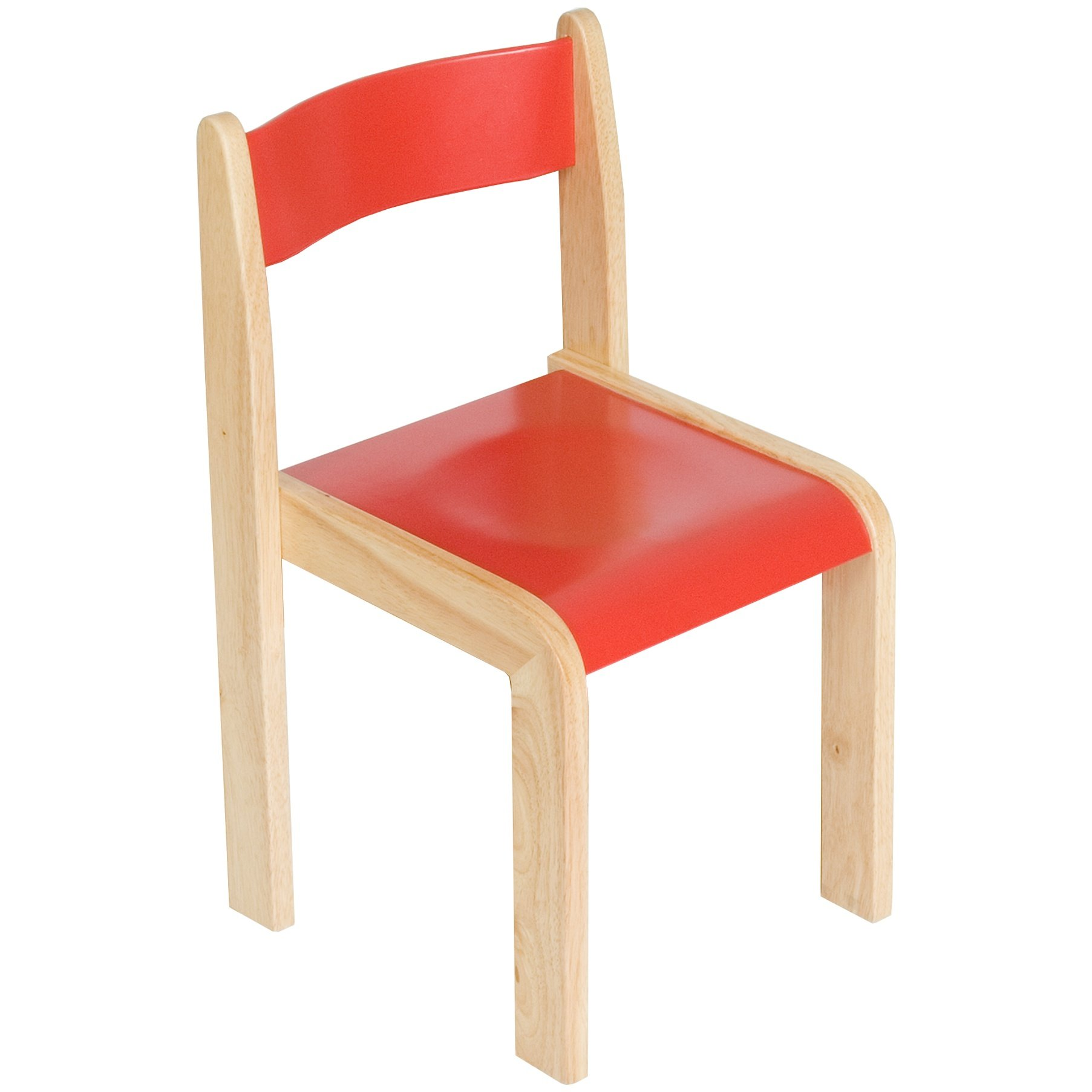 Primary Wooden Stacking Chairs Pack Of 2
